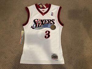 4200ffeedd64 Allen Iverson Sixers 76ers Mitchell Ness 2000-01 HWC Swingman Jersey ...