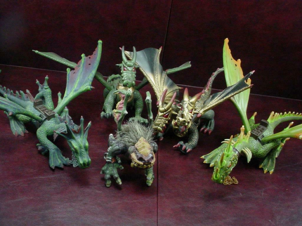 Mycket fem MEGA BLOKER Dragons Figures