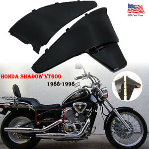 Chrome//Black Battery Side Cover Fit For Honda Shadow VT600 VLX600 STEED400 88-98