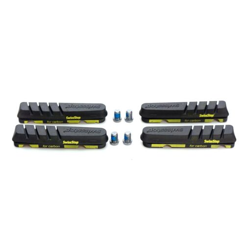 SwissStop Flash Evo Black Prince Brake Pads Carbon fits Shimano//Sram 2pcs//4pcs