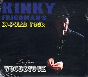 Bi-Polar-Tour-Live-from-Woodstock-CD-Kinky-Friedman-Country-Americana-2012