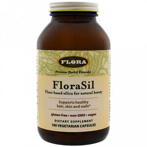 Flora, FloraSil, Plant Based Silica For Natural Beauty, 180 Vegetarian Capsules