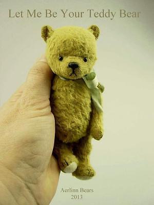 Mohair/viscosa Bear Kit (tan Brown Uno) 5.5 Pollici-