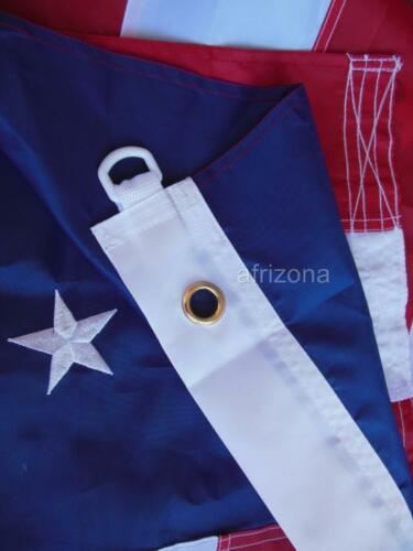 BEST QUALITY/< />BEST PRICE 4 American 5x8 Flags Sewn Nylon EMBROIDERED STARS