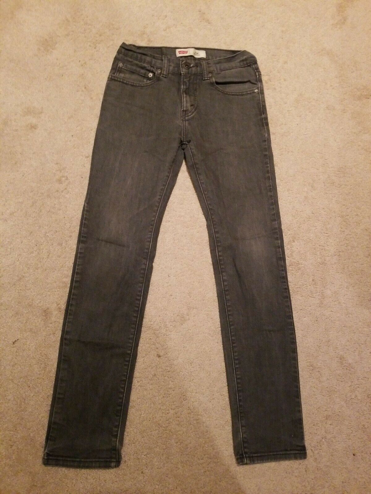 Levi/'s 505 Regular Youth Denim Jeans Size 18 Reg W29 L29 Cotton