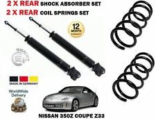 PER NISSAN 350Z Z33 COUPE 3.5 02-> 2 X AMMORTIZZATORE POST.+SERPENTINA MOLLE SET