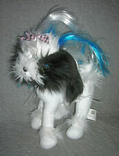 TINI PUPPINI  WHITE, BLACK DOG  by  SPIN MASTER   11 INCH   EXCELLENT
