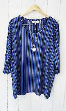 Zizzi Shirt  Bluse 3/4 Arm Gr L ❤ Daphne Blau Neu