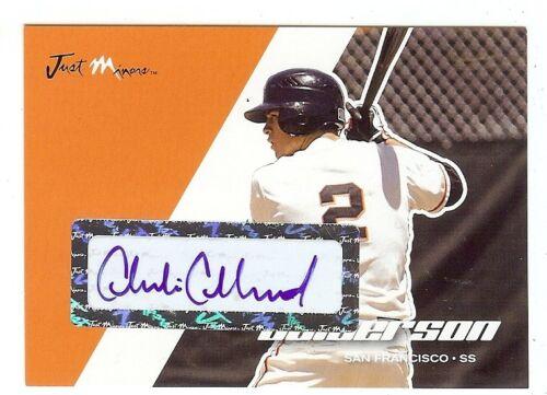 CHARLIE CULBERSON 2008 Atlanta Braves Certified Baseball Card AUTOGRAPH RC