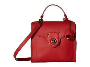 how to choose best quality many choices of Details about NWT $248 LAUREN RALPH LAUREN MILLBROOK TOP HANDLE CROSSBODY  SATCHEL- RED