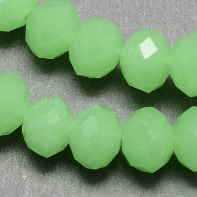 20 Glasperlen 8mm Tschechische Kristall Perlen Gefrostet Grün  BEST X75