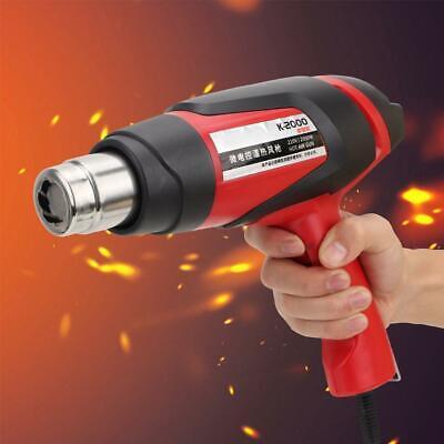 Digital Display Hot Air Gun 2000W Adjustable Temperature Heat Gun with 3 Nozzle