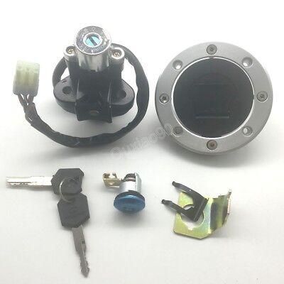 Ignition Switch Gas Cap Seat Lock Set Fit Suzuki GSXR 600 GSX-R600 96-03 GSXR750