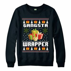 Christmas-Jumper-Gangsta-Wrapper-Funny-Xmas-Festive-Gift-Jumper-Top