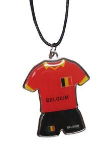 Collier-Pendentif-maillot-football-de-Belgique