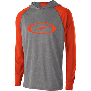 Storm Men's Fire Road Performance Hoodie Bowling Shirt DriFit orange