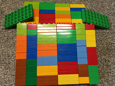 Curved 2x4 2x2 LEGO DUPLO Lot 40 BUILDING BLOCKS BRICKS PIECES Multicolor