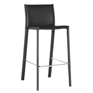 Baxton Studio Counter Stool-ALC-1822A-65 Black-Pack of 2 ALC-1822A-65Black NEW