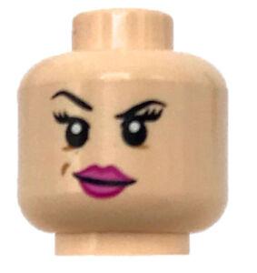 LEGO New City Minifigure Head with Blue Sunglasses and Raised Eyebrow
