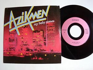 AZIKMEN-My-baby-comes-Nelson-7-034-45T-1988-French-reggae-8043-DK-N-Rueil-92500