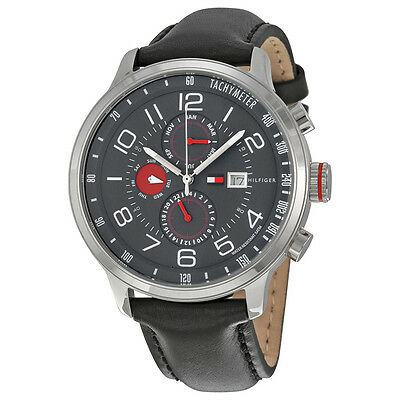 Tommy Hilfiger Classic GMT Grey Dial Stainless Steel Mens Watch 1790859