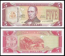 Liberia 5 DOLLARS 2009 P 26 UNC