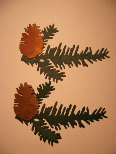 Yule Navidad Pine Cone conos y rama de árbol de Abeto Bosque caminar dado corta