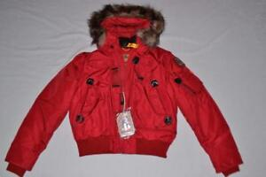Image is loading AUTHENTIC-PARAJUMPERS-GOBI-ECO-BOYS-HOODED-BOMBER-RED-