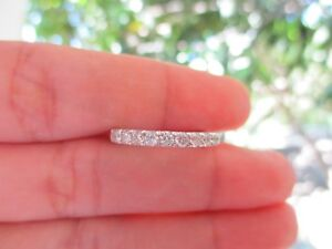 .55 Carat Diamond White Gold Half Eternity Ring 14k codeHE02 sepvergara