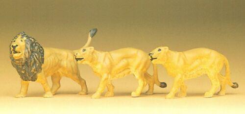 handbemalt Löwen Preiser 20379 H0 3 Figuren