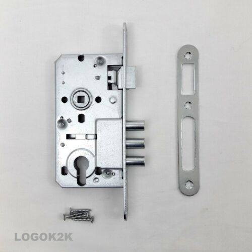 ENTRANCE LONG BACKPLATE LEVER HANDLE DOOR SET EURO LOCK  AND SASH MORTICE CASE