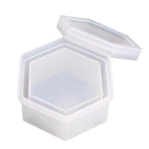 Resin Mold Trinket Box Silicone Mould Jewelry Making Tools UV Epoxy Small Box
