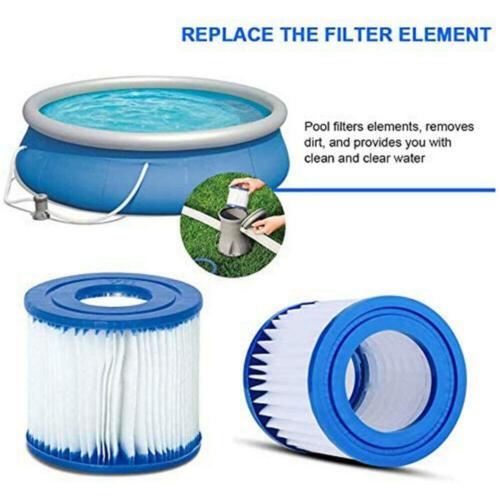2PCS Summer Waves Swimming Pool Filter Cartridge Universal Type D/&VII //Intex D
