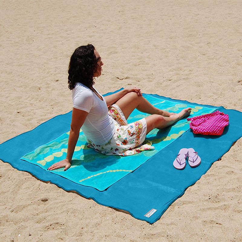 Strandmatte Sandfrei Stranddecke Picknick Decke Campingdecke Strand Tuch 200x200 3