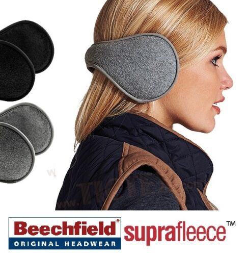 Ladies Girls Beechfield Suprafleece™ Ear Muffs Thermal Warmth Padding Adjustable