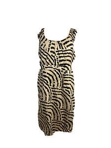 Jacqui. E Womens Size 14 A - Line Animal Print Midi Dress