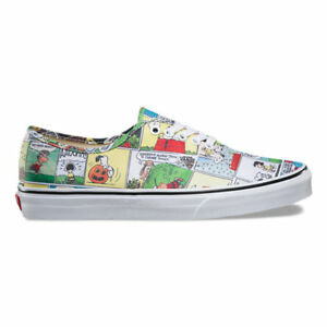 76c67a714f Vans Authentic Peanuts Comics Kids 10.5 Skate Shoes New Snoopy ...