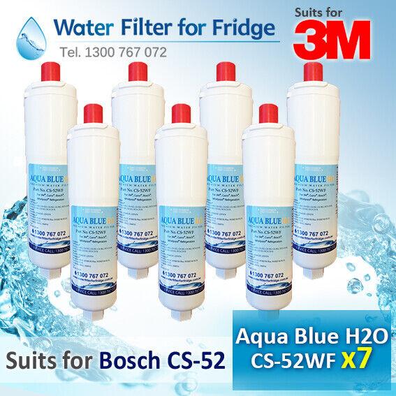 7x Bosch CS-52 Replacement Filter Aqua Blau H2O CS-52WF