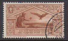 ITALY :1930 Virgil Birth Bimillenary Airmail 50c reddish-brown  SG 299 used