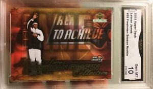 Rare-LeBRON-JAMES-Rookie-card-Upper-Deck-Freshmen-Season-2003-04-Gem-Mint-10-55