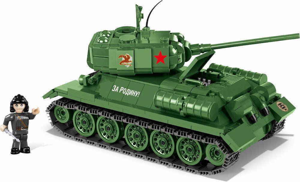 Tanque T-34 85 World Of Tanques Construcción Juguete Bloques Pequeño Ejército
