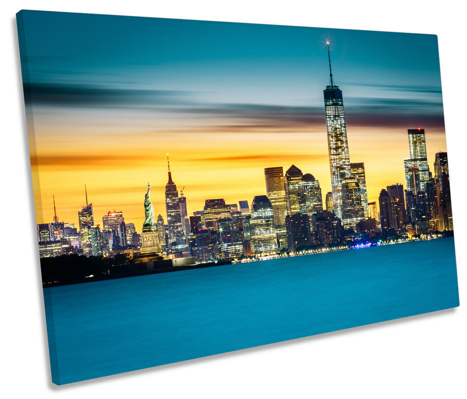 Statue of Liberty New York Picture SINGLE SINGLE SINGLE CANVAS WALL ART Print c22044