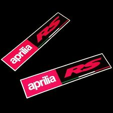 Aprilia RS Carreras REFLECTANTE Moto pegatina dibujo rectángulo x 2 piezas