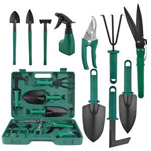 5/10pcs Garden Tools Set Gardening Kit Weeder Rake Shovel Trowel Sprayer w Case