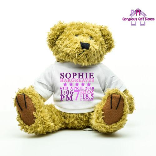 Baby Girl Gift Christening Newborn Baby Gift New Baby Girl Personalised Teddy