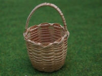 Large Shopping Basket, Wicker Doll House Miniature
