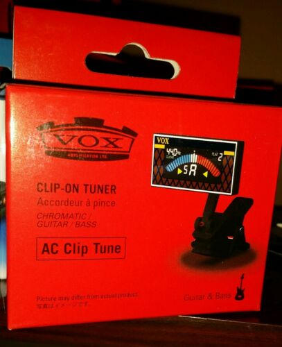 Vox AC Clip Tune Chromatic Guitar and Bass Tuner.