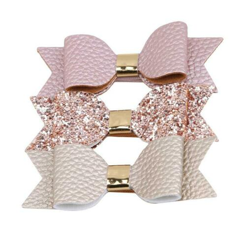 Hair Ring Hair Clip Accessories Clips Child Hot Sale Leather Bow Girls Hairpin F
