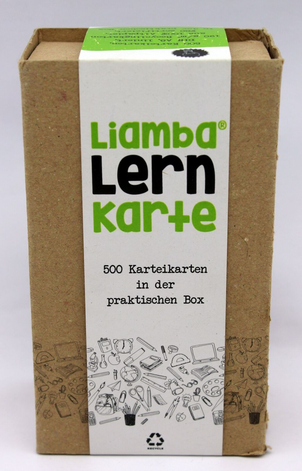 Liamba Lernkarte500 Karteikarten in der praktischen LernboxDIN A8 Format