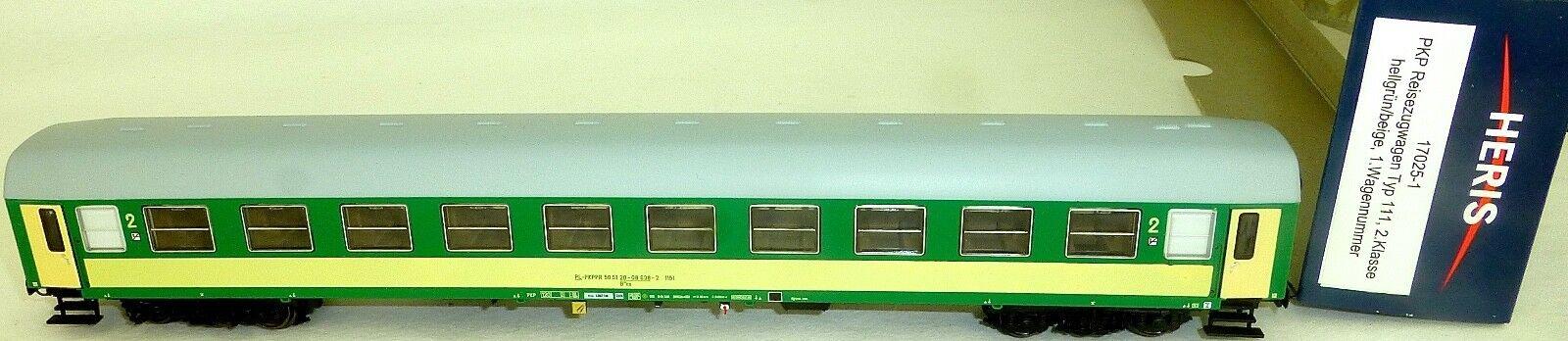 PKP Reisezugwagen 638-2 typ111 2 ° CL. Light Grey Beige HERIS 17025-1 h0 NEW